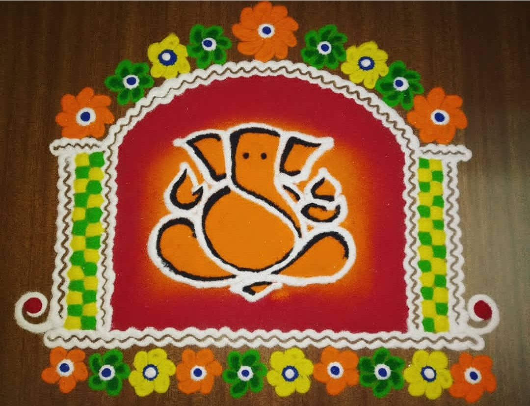 Rangoli Design Ideas for Ganpati