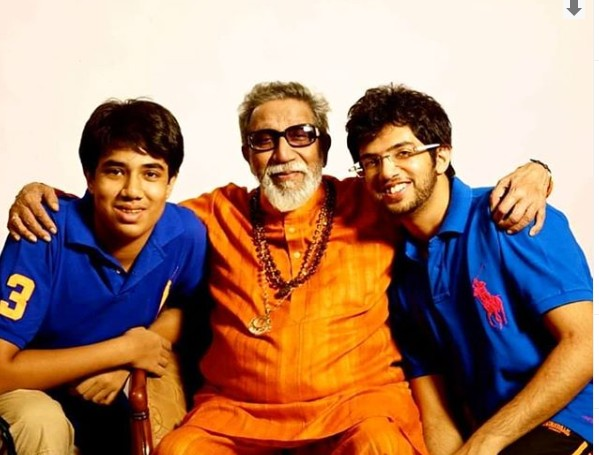 Tejas Thackeray with Bal Thackeray