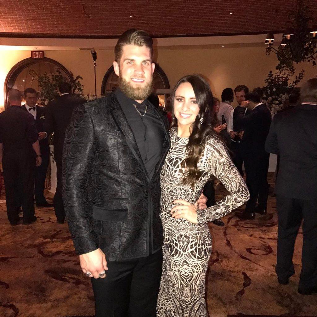 Kayla Varner and Bryce Harper at Event