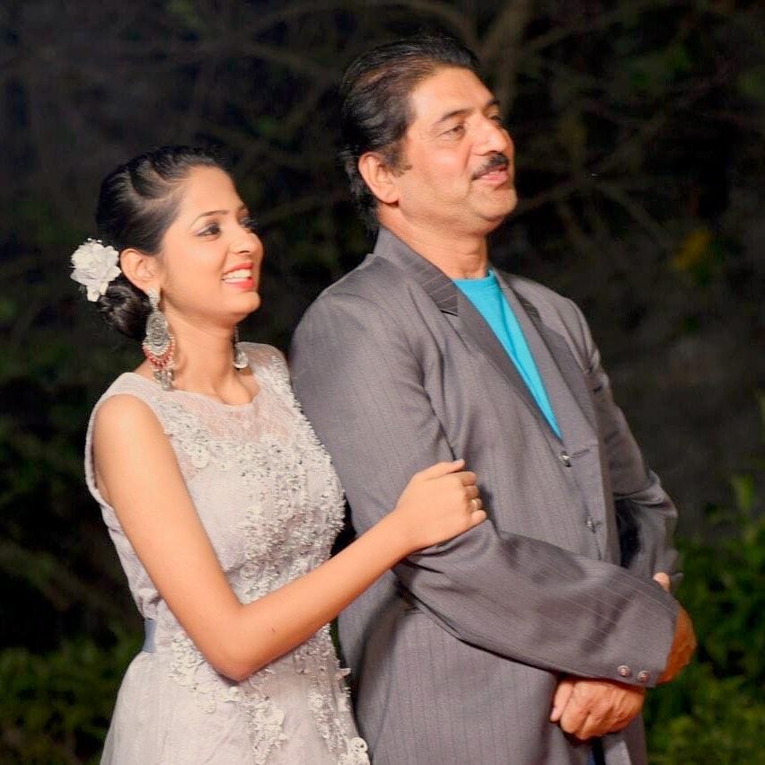 Vidula Chougule with Her Father