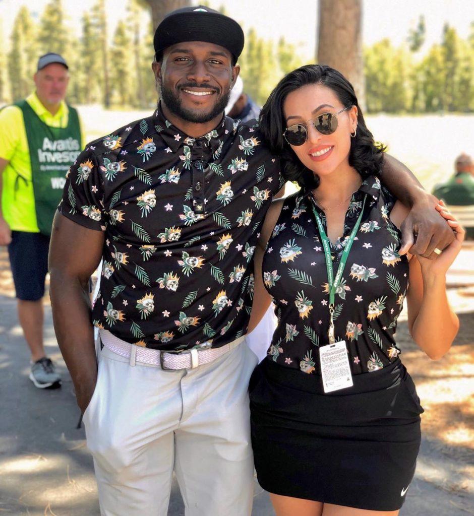Lilit Avagyan with Husband Reggie Bush