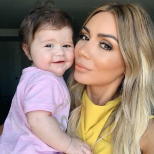 Lilit Caradanian with baby