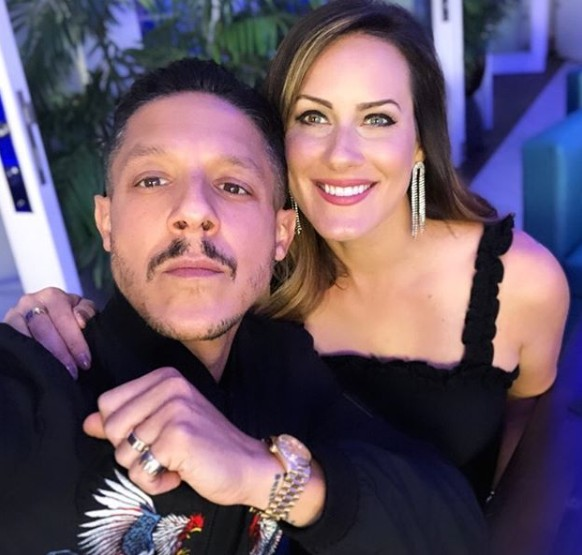 Meghan McDermott with Theo Rossi