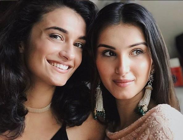 Pia Sutaria with Sister Tara Sutaria