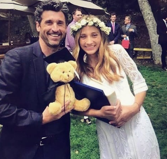 Tallula Fyfe Dempsey with dad Patrick Dempsey
