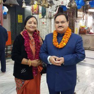 Mallika Nadda with JP Nadda
