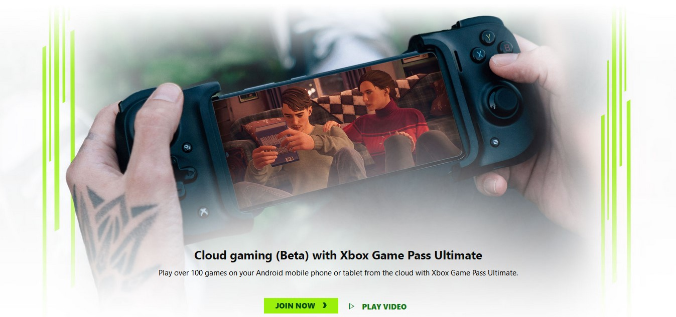 xbox game pass cloud gaming