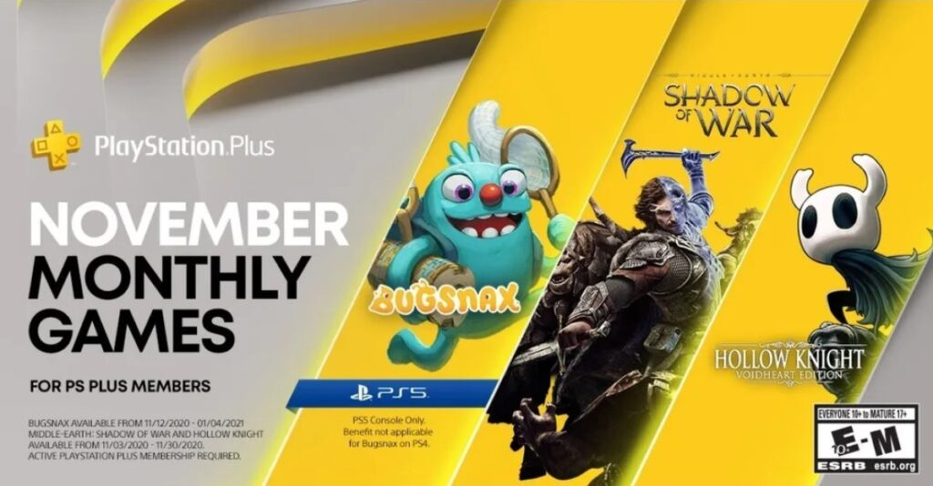 playstation plus games november 2020